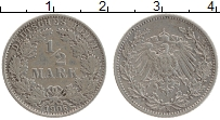 Изображение Монеты Германия 1/2 марки 1906 Серебро XF E