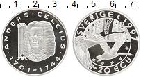 Изображение Монеты Швеция 20 экю 1997 Серебро Proof UNUSUAL. Андерс Цель