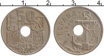 Изображение Монеты Испания 50 сентим 1949 Медно-никель XF Стрелы вниз. Якорь