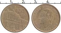 Изображение Монеты Испания 100 песет 1996 Латунь XF Национальная библиот