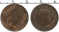 Изображение Монеты Португалия 5 рейс 1893 Медь XF Карлос I