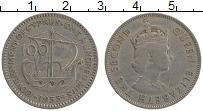 Изображение Монеты Кипр 100 милс 1955 Медно-никель XF Елизавета II. Корабл