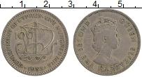 Изображение Монеты Кипр 100 милс 1955 Медно-никель XF Елизавета II.