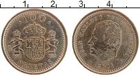 Изображение Монеты Испания 100 песет 1998 Латунь XF Хуан Карлос I