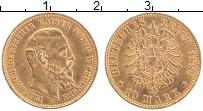 Изображение Монеты Пруссия 10 марок 1888 Золото XF+ Фридрих III (КМ# 514