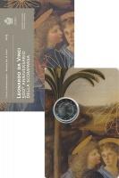 Изображение Подарочные монеты Сан-Марино 2 евро 2019 Биметалл UNC 500 лет со дня смерт