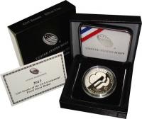 Изображение Подарочные монеты США 1 доллар 2013 Серебро Proof Подарочная монета по