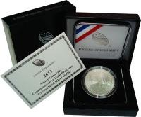 Изображение Подарочные монеты США 1 доллар 2013 Серебро UNC Подарочная монета по
