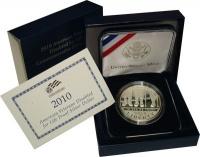 Изображение Подарочные монеты США 1 доллар 2010 Серебро Proof Подарочная монета по