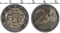 Изображение Монеты Франция 2 евро 2013 Биметалл UNC- 50 лет франко-герман