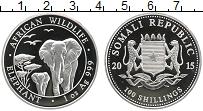 Продать Монеты Сомали 100 шиллингов 2015 Серебро