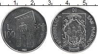 Изображение Монеты Сан-Марино 100 лир 1988 Сталь UNC Укрепления. Надвратн