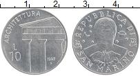 Изображение Монеты Сан-Марино 10 лир 1997 Алюминий UNC Архитектура
