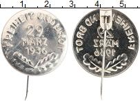 Изображение Монеты Третий Рейх Знак 1936 Железо XF Выборы 29 марта 1936