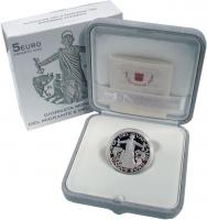 Изображение Подарочные монеты Ватикан 5 евро 2020 Серебро Proof Мигранты. Серебро 92