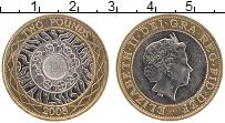 Изображение Монеты Великобритания 2 фунта 2008 Биметалл XF Елизавета II. Технол