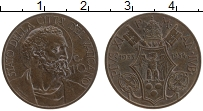 Изображение Монеты Ватикан 10 сентесим 1934 Бронза XF Пий XI