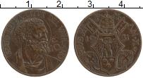 Изображение Монеты Ватикан 10 сентесим 1931 Бронза XF Пий XI