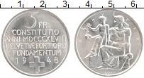 Изображение Монеты Швейцария 5 франков 1948 Серебро UNC- 100 лет Конституции