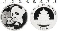 Изображение Монеты Китай 10 юаней 2019 Серебро Proof Панды