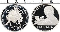 Изображение Монеты Италия 10 евро 2010 Серебро Proof 400 лет со смерти Ми