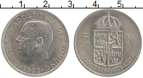 Изображение Монеты Швеция 5 крон 1973 Медно-никель UNC- Густав VI Адольф. Ре