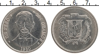 Изображение Монеты Доминиканская республика 1 песо 1980 Медно-никель UNC- Хуан Пабло Дуарте