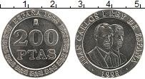 Изображение Монеты Испания 200 песет 1998 Медно-никель UNC Хуан Карлос I и Фили