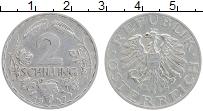 Изображение Монеты Австрия 2 шиллинга 1947 Алюминий XF Герб