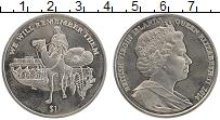 Изображение Монеты Виргинские острова 1 доллар 2014 Медно-никель UNC Елизавета II. Первая