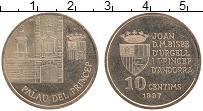 Изображение Монеты Андорра 10 сантим 1997 Латунь UNC- Княжеский дворец