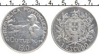 Изображение Монеты Португалия 1 эскудо 1914 Серебро XF+ Революция 5 октября