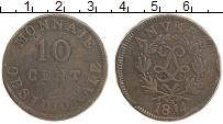 Изображение Монеты Франция 10 сантим 1814 Медь VF Осада Антверпена .На