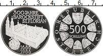 Изображение Монеты Австрия 500 шиллингов 1986 Серебро Proof 300 лет Монастырю Св