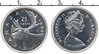 Изображение Монеты Канада 25 центов 1965 Серебро UNC Елизавета II