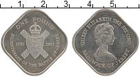 Изображение Монеты Остров Джерси 1 фунт 1981 Медно-никель UNC- 200 лет битвы за Дже