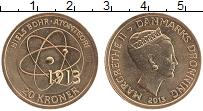 Изображение Монеты Дания 20 крон 2013 Латунь UNC Нильс Бор