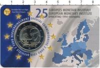 Изображение Подарочные монеты Бельгия 2 евро 2019 Биметалл UNC 25-летие Европейског