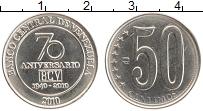 Изображение Монеты Венесуэла 50 сентим 2010 Медно-никель UNC- 70 лет Национальному