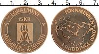 Изображение Монеты Швеция 15 крон 1980 Бронза UNC- Городские деньги