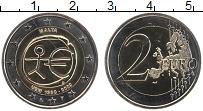 Изображение Монеты Мальта 2 евро 2009 Биметалл UNC 10 лет Экономическом
