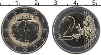 Изображение Монеты Люксембург 2 евро 2011 Биметалл UNC 50 лет назначения ге