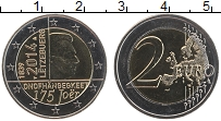 Изображение Монеты Люксембург 2 евро 2014 Биметалл UNC 175 лет независимост