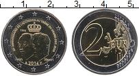 Изображение Монеты Люксембург 2 евро 2014 Биметалл UNC 50 лет вступления на