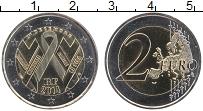 Изображение Монеты Франция 2 евро 2014 Биметалл UNC 1 декабря-Всемирный
