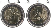 Изображение Монеты Италия 2 евро 2015 Биметалл UNC Данте Алигери