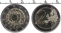 Изображение Монеты Германия 2 евро 2015 Биметалл UNC F. 30 лет флагу Евро