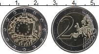 Изображение Монеты Словения 2 евро 2015 Биметалл UNC 30 лет флагу Евросою