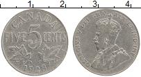 Изображение Монеты Канада 5 центов 1928 Медно-никель XF Георг V