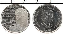 Изображение Монеты Канада 25 центов 2013 Медно-никель UNC Елизавета II.Война 1